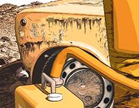 Lost Cosmonaut Illustration