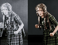 Restoration and Colorization of Actress Mary Pickford.