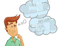 Ilustrações para Guia de Plano Médico