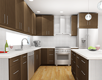 Modern Kitchen Renovation Renderings