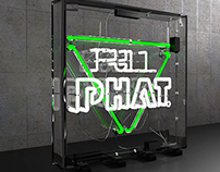 3D Neon Signage - Full Phat/Stop Events MCR