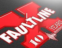 Faultline X Anniversary Logotype