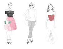 Fashion infographic progress