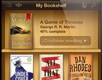 Ebooks Reader app UI