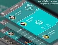 Mobile App UI Design for Totsense