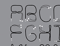 Typography Font Earphone