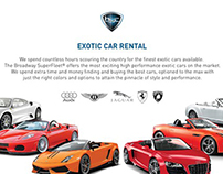 EXOTIC WEDDING CARS RENTAL BROCHURE