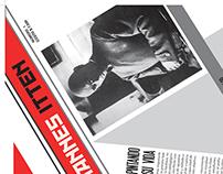 Diagramación de Periódico  conmemoración de la Bauhaus