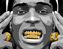 Gold Grills Asap Rocky Illustration On Behance