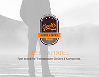 Geek's Apparel. IT brand.
