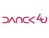 DANCE STUDIO DANCE4U LOGOTYPE