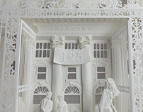 White paper art for Barnard College