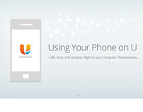 U Mobile app page