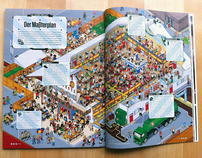 Oktoberfest Illustration, WIRED Magazine, Germany