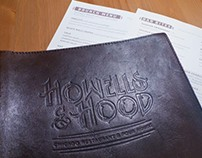 Hood & Howells - Menu Design