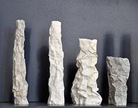 Vases série Totem et série Falaise