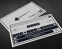 Key Board Style Business Card