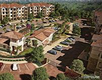 WoodlandHills Apartments Aerial View