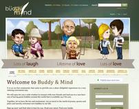 Buddy and Mind - Website Mock-up design