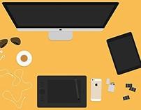 Free Flat Hero Header Kit (Designer Essentials)