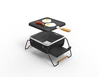 Allunette. Portable cooking device.