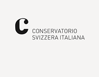 Logo design for Conservatorio della Svizzera italiana