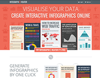 Landing page design for online infographic tool
