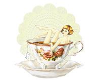 A Bath Bun for a Tea Bath - Illustration