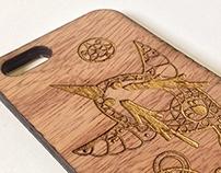 Bird Engraved | iPhone case prototype