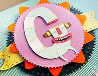 G monster cut paper