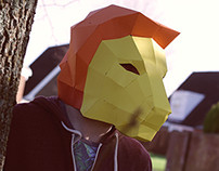 Lion Papercraft Mask