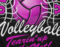 Illusration/Design - OHS Volleyball T-shirt