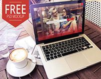 Free Macbook Pro PSD Mockup Terrace