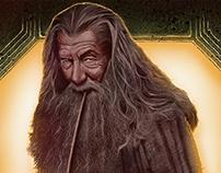 Bilbo and Gandalf