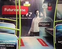 Swinburne University 'Futurise me' interior train wrap