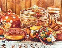 Русская кухня. Russian dishes. Часть 1