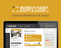 Intranet Wireframes & Design