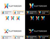 Fluttercoin Re-Branding Mockup
