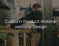Custom Makers website Design