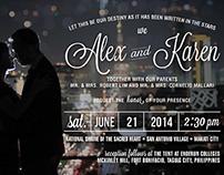 Alex&Karen: Starry Night Wedding Invite