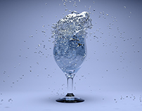 3D Glass With Splash Water v2