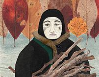Грустная селькупка мёрзнет / Sad frozen Selkup woman