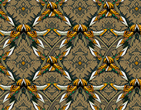 Wallpaper pattern design 25 Edouard Artus ©2014