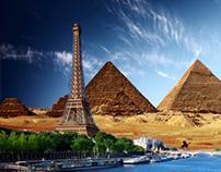 Эльфиевая башня+пирамиды