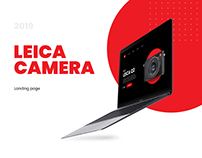 Landing page Concept for Leica Camera