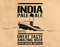 IPA & BBA beer label design