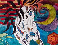 Esme - Totem Horse Painting