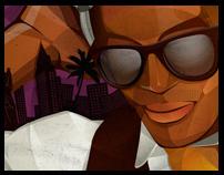DJ Que Illustration & Site Design