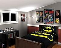 Interior Design - Comic Book Themed Bedroom
