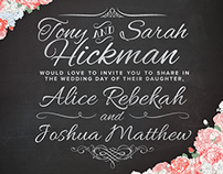 Hickman-Smith Wedding Invitations